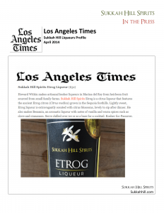 Los Angeles Times reviews Sukkah Hill Liqueurs-1