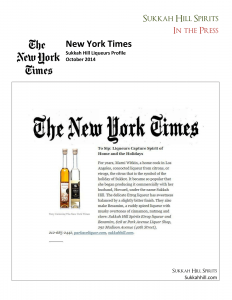 New York Times reviews Sukkah Hill Liqueurs-1