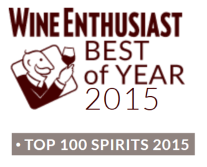Wine Enthusiast top 100 spirits award